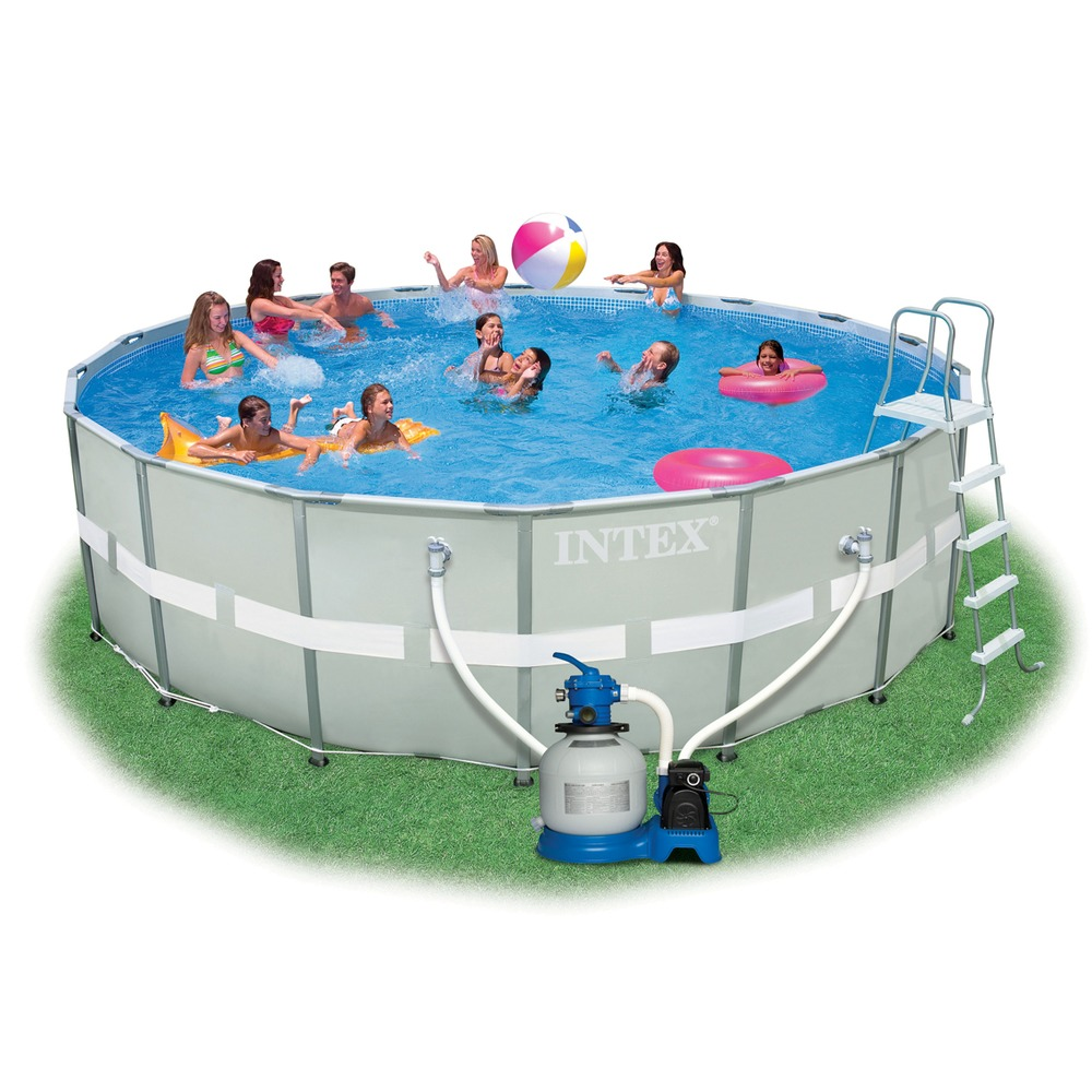 CLEANING Intex 16x32x52 Pool  Best Affordable Backyard