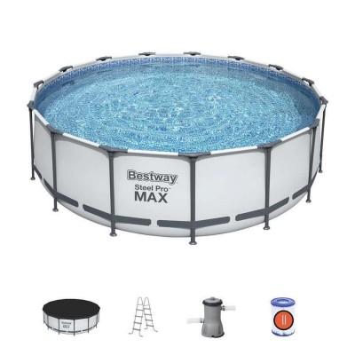 Бассейн каркасный 366х122см Bestway 56420Б Steel Pro MAX + Аксессуары