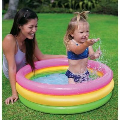 Детский надувной бассейн 86х25 intex 58924