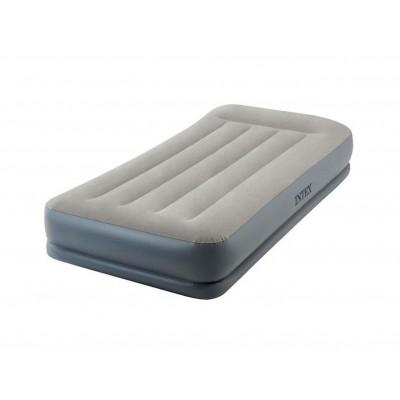 Купить кровать надувная односпальная со встроенным насосом 220В 99х191х30см intex 64116 в ИНТЕКСХАУС
