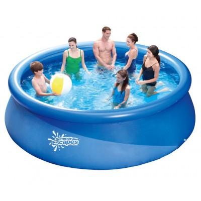 Надувной бассейн с надувным верхним кольцом 366х91см Summer Escapes Р10-1236