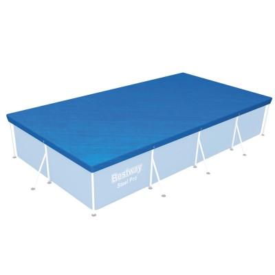 купить Тент для прямоугольного каркасного бассейна 400х211см Bestway 58107 за 1080руб. в ИНТЕКСХАУС