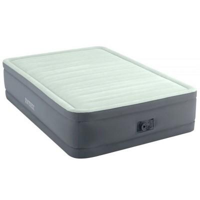 Кровать надувная полутораспальная со встроенным насосом 137х203х46см intex 64904 PremAire