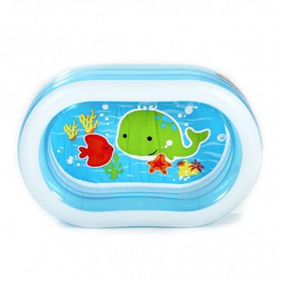 купить Бассейн детский Овал прозрачный 163х107х46см intex 57482 за 1440руб. в ИНТЕКСХАУС
