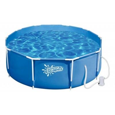 купить Бассейн каркасный c фильтр-насосом 305х106см Summer Escapes Р20-1042-А за 9490руб. в ИНТЕКСХАУС