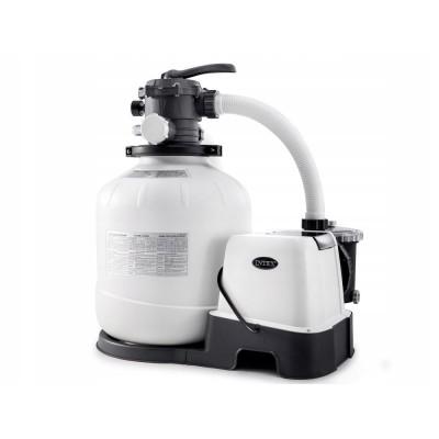 купить Песочный фильтр-насос 220 В + хлоргенератор, 6 куб.метров/ч intex 26676 в ИНТЕКСХАУС