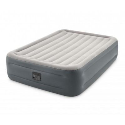 Кровать  надувная двуспальная со встроенным насосом 152х203х46см intex 64126 Essential Rest Fiber-Tech