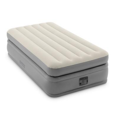 Кровать надувная односпальная со встроенным насосом 99х191х51см intex 64162 Prime Comfort Elevated Fiber-Tech