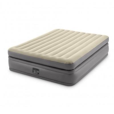 Кровать надувная двуспальная со встроенным насосом 152х203х51см intex 64164 Prime Comfort Elevated Fiber-Tech