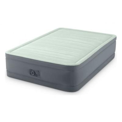 Кровать надувная двуспальная со встроенным насосом 152х203х46см intex 64906 PremAire