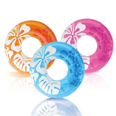 купить Круг Clear Color 91см, от 9 лет, 3 цвета intex 59251 за 220руб. в ИНТЕКСХАУС