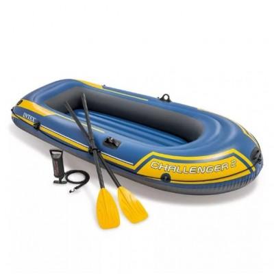 Надувная лодка из ПВХ Challenger-2-SET 236х114х41см intex 68367