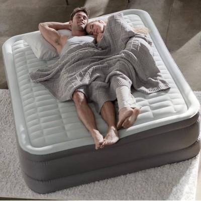 купить Кровать надувная двухспальная со встроенным насосом 220В 152х203х46см intex 64474 за 5220руб. в ИНТЕКСХАУС