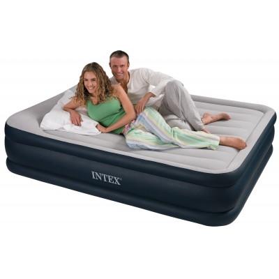 Купить кровать надувная двуспальная со встроенным насосом 152х203х43см intex 64136 за 3490руб. в ИНТЕКСХАУС