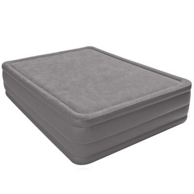 Купить кровать надувная двуспальная со встроенным насосом 220В 152х203х51см intex 64468 за 7650руб. в ИНТЕКСХАУС