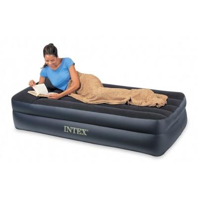 купить кровать надувная односпальная  (без насоса) 99х191х47 см intex 66721 дешевле в ИНТЕКСХАУС