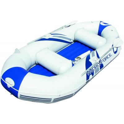 купить Лодка надувная 2-х местная с алюминиевыми веслами и насосом Marine Pro 291х127х46см Bestway 65044 за 9390руб. в ИНТЕКСХАУС