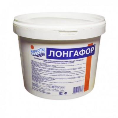 """Лонгафор 5 кг по 200 гр. таблетки (Для длительной """"хлорной"""" дезинфекции)"""