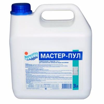 Мастерпул 3 л (для комплексной обработки воды бассейнов, не содержит хлора), канистра