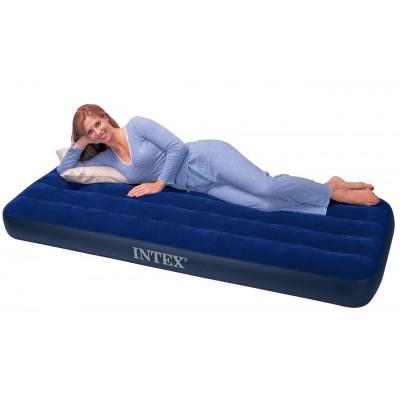 купить Матрас надувной односпальный (без насоса) 76х193х22см intex 68950 за 690руб. в ИНТЕКСХАУС