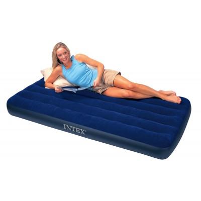 купить Матрас надувной односпальный (без насоса) 99х191х22см intex 68757 за 800руб. в ИНТЕКСХАУС