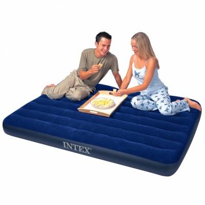 купить Матрас надувной полутораспальный (без насоса) 137х191х22см intex 68758 за 1000руб. в ИНТЕКСХАУС