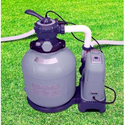 купить Песочный фильтр-насос 220 В + хлоргенератор, 6 куб.метров/ч intex 28676 за 20990руб. в ИНТЕКСХАУС