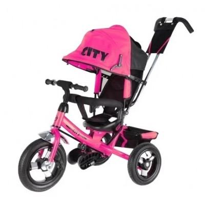 Trike City JD7, розовый - велосипед трехколесный