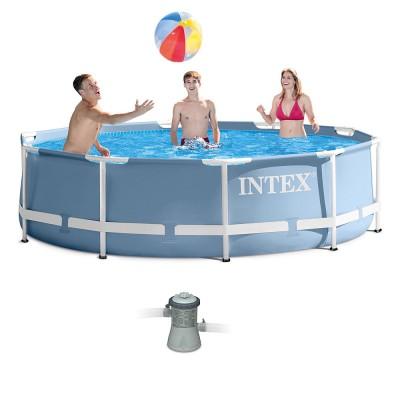 купить Бассейн каркасный c фильтр-насосом 305х76см Intex 28702 за 6500руб. в ИНТЕКСХАУС