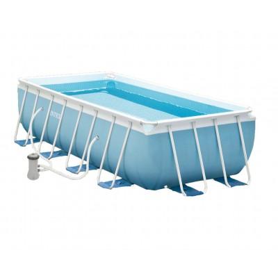 купить Каркасный бассейн 400х200х100см intex 28316 с фильтр-насосом и лестницей за 24400руб. в ИНТЕКСХАУС