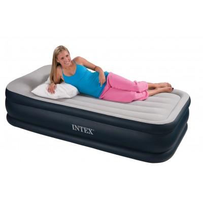 купить Кровать надувная односпальная со встроенным насосом 220В 99х191х43см intex 64132 за 2690руб. в ИНТЕКСХАУС