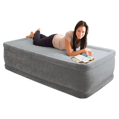 Купить кровать надувная односпальная со встроенным насосом 220В 99х191х46см intex 64412 за 3190руб. в ИНТЕКСХАУС