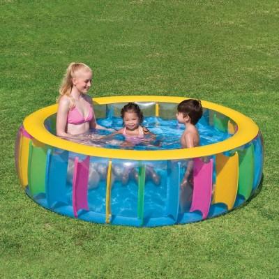 Бассейн детский с цветными вставками 183х61см BestWay 51038