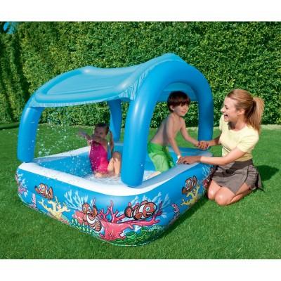 Бассейн детский с навесом 147х147х122см BestWay 52192