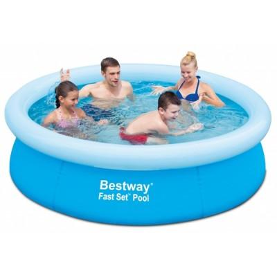 Бассейн с надувным верхним кольцом 198х51см Bestway 57252