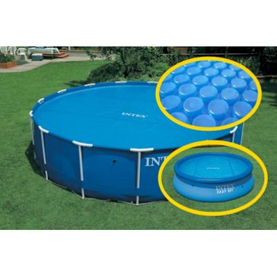 Тент солнечный прозрачный для бассейнов 244см intex 59958