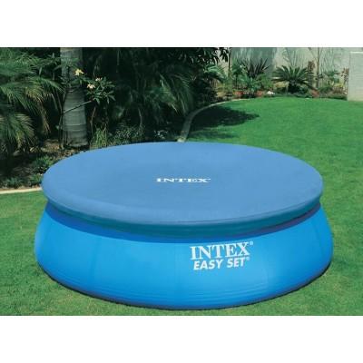 Тент для бассейна с верхним надувным кольцом 396см intex 28026