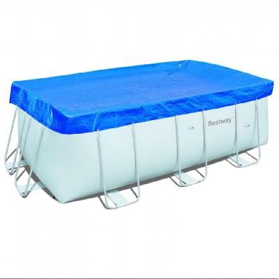 купить Тент для прямоугольного каркасного бассейна 412х201см Bestway 58232 за 1190руб. в ИНТЕКСХАУС