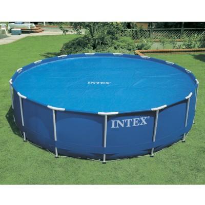 Тент солнечный прозрачный для бассейнов 488см intex 59956