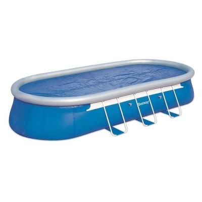 купить Тент солнечный прозрачный для овального бассейна 610х366см Bestway 58152 за 4200руб. в ИНТЕКСХАУС