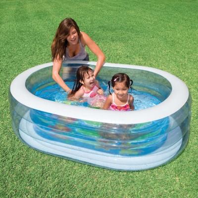 купить Бассейн детский Овал прозрачный 163х107х46см intex 57482 за 1256руб. в ИНТЕКСХАУС