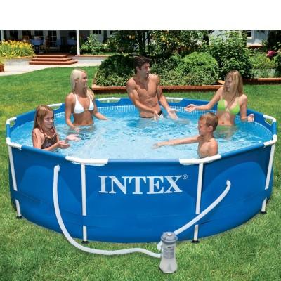 купить Бассейн каркасный c фильтр-насосом 305х76см Intex 28202 за 6490руб. в ИНТЕКСХАУС