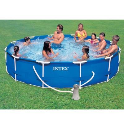 купить Бассейн каркасный с фильтр-насосом 366х76см intex 28212 за 8600руб. в ИНТЕКСХАУС