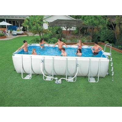 купить Каркасный бассейн 400х200х100см intex26788 с фильтр-насосом в ИНТЕКСХАУС