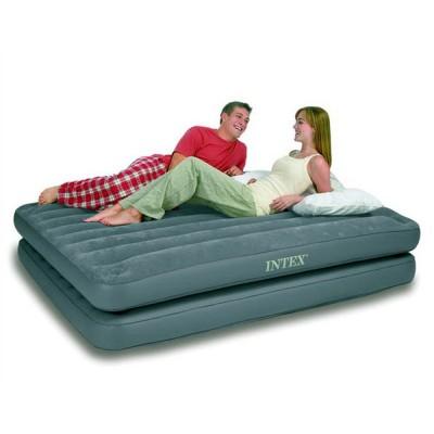 купить Кровать надувная двуспальная 2 в 1 (без насоса) 152х203х46см intex 67744 в ИНТЕКСХАУС
