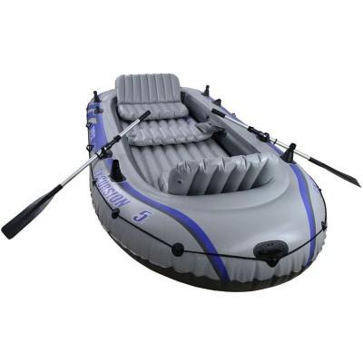 купить Лодка надувная 5-ти местная с алюминиевыми веслами и насосом Excursion 5 Set 366х168х43см intex 68325 за 11000руб. в ИНТЕКСХАУС