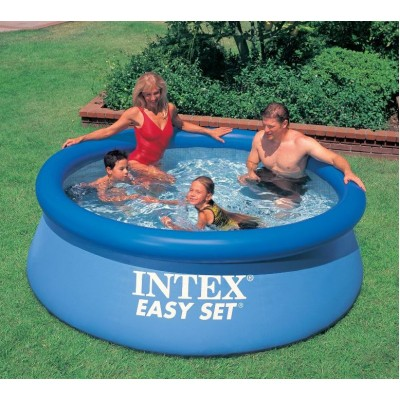 купить Бассейн с надувным верхним кольцом 244х76см intex 28110 за 2200руб. в ИНТЕКСХАУС
