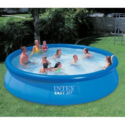 купить Бассейн с надувным верхним кольцом 457х91см intex 28160 за 6780руб. в ИНТЕКСХАУС