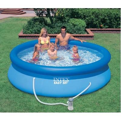купить Бассейн с надувным верхним кольцом и фильтр-насосом 305х76см intex 28122 за 4590руб. в ИНТЕКСХАУС