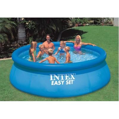 купить Надувной бассейн с надувным верхним кольцом 366х91см intex 28144 за 4900руб. в ИНТЕКСХАУС